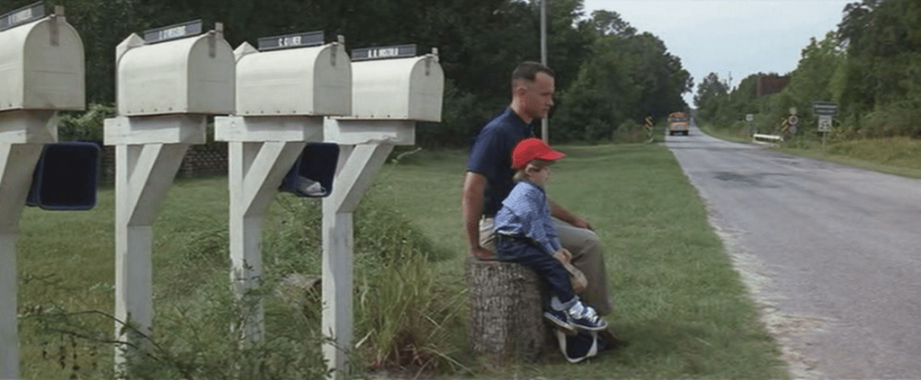 forrest gump mailbox listy