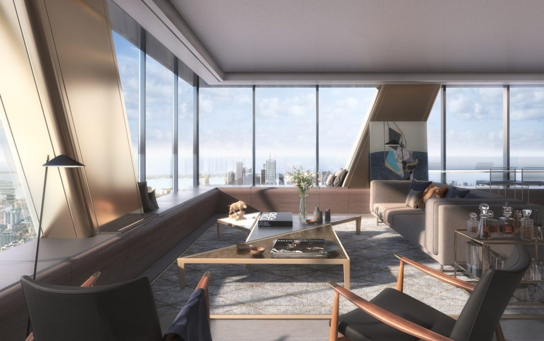 Interior rendering of The One Toronto