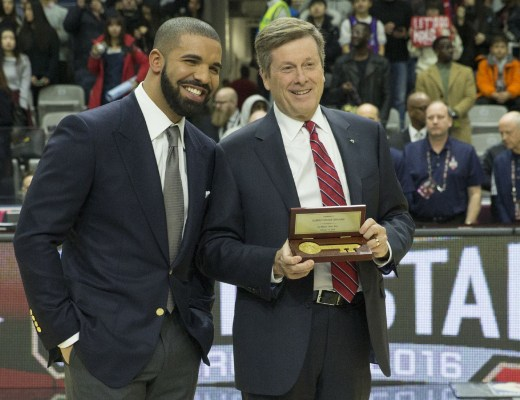 Drake and Toronto Mayor John Tory