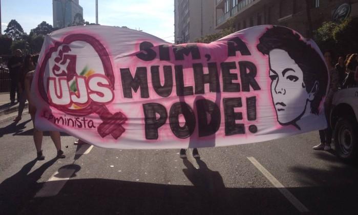 Manifestantes protestam contra Temer - Stella Borges