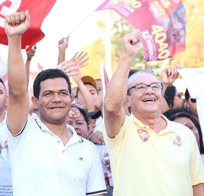 O presidente regional do PSB, Luciano Leitoa, e o deputado federal José Reinaldo Tavares que assume o diretório municipal di partido