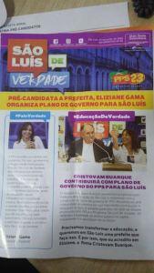 Capa da primeira edição do jornal do PPS distribuído na última sexta pela assessoria da deputada Eliziane Gama