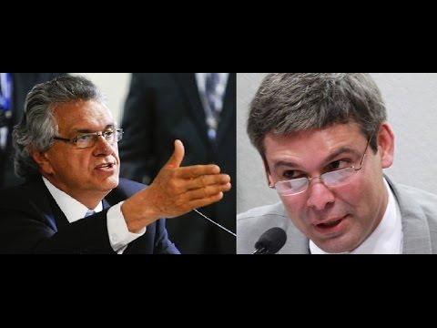 Ronaldo Caiado e Lindbergh Farias: bate-boca  e baixaria no Senado