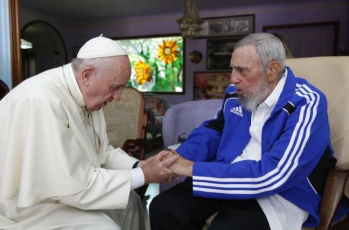 Papa Francisco encontra Fidel Castro durante visita a Cuba.  (Alex Castro - 20.set.2015/AP)