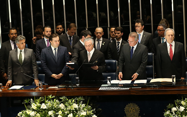 Michel Temer (PMDB-SP) toma posse definitivamente na presidência da República / Alan Marques/Folhapress