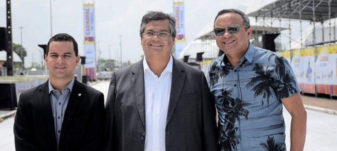 """""""Vai ser um grande sucesso"""", diz Flávio Dino ao vistoriar pontos do Carnaval de Todos"""