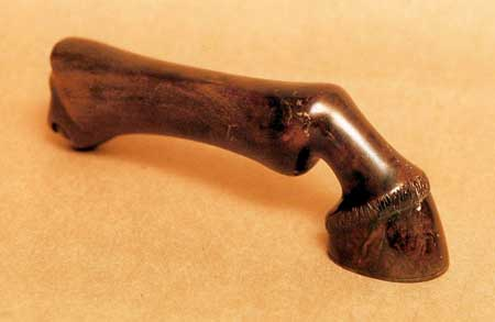 The gavel passed down through the generations of William Garrow's family