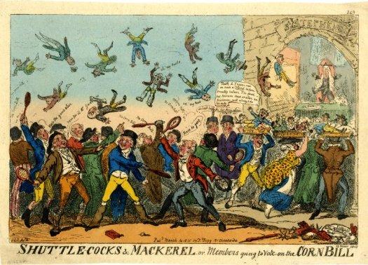 Shuttlecocks & Mackerel, or, members going to vote on the Corn Bill