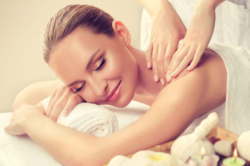 woman enjoying her massage