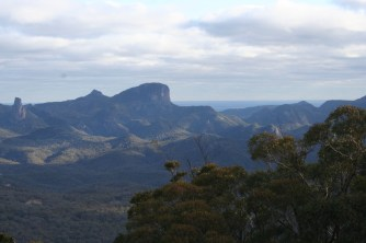 View of Warrumbungle Ranges from Siding Springs Observatory