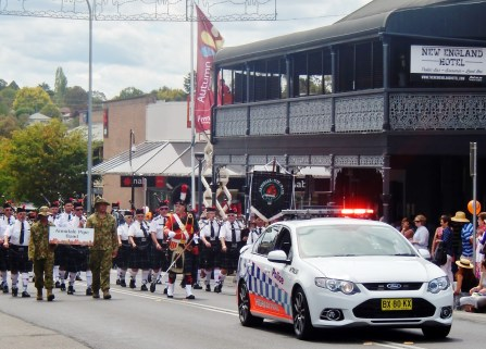 Start of the Parade Armidale March 15th 2014