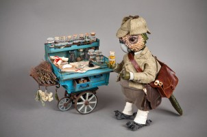 Apothecaries' cart commissioned for Doll Artist Tanya Marriott [cardboard]