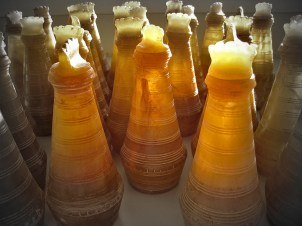 Alabaster jar for scented oils. Investors gift [cast resin]