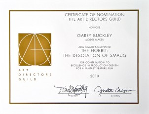 Art Directors Guild Nomination - Excellence in Production Design for a Fantasy Feature Film - The Hobbit: Desolation of Smaug, 2013