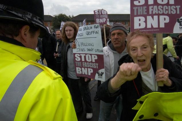 anti bnp demonstration, manchester