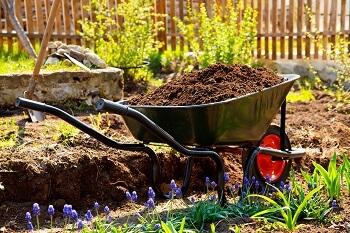 Schubkarre Garten Erde