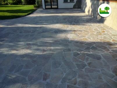 Luserner Gneis - Rossiccio - Polygonalplatten