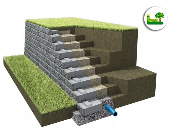 Variante Schwerlastmauer
