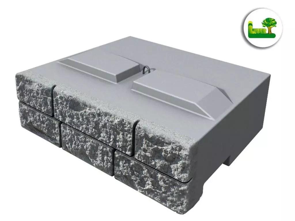 """Die ReCon-Stützwandsystem-Steine gibt es in einem anderen """"Oberflächen-Format"""". Jeder Stein trägt klein-gliedrige Steine. Sie haben dieselben stat. Eigenschaften. -gartenleber aus der Südoststeiermark."""