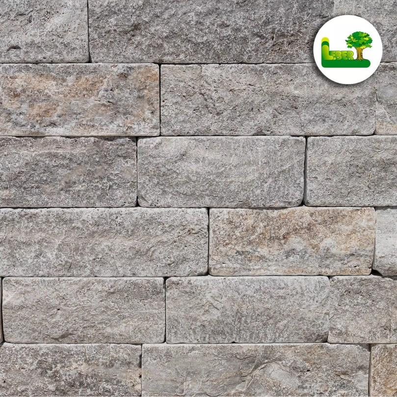 Travertin Pewter Natursteinmauerwerk aus der Steiermark. garten leber