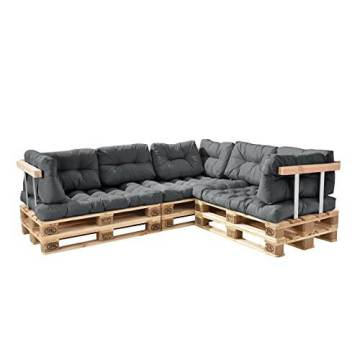 li il palettenkissen 11teilige garten lounge mit kissen und polster. Black Bedroom Furniture Sets. Home Design Ideas