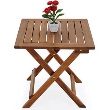 Beistelltisch Klapptisch Holztisch
