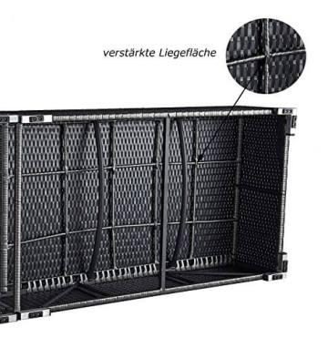 XXL 52 cm hohe PREMIUM LIEGE mit 12 cm Auflage mit Kopfkissen (waschbar). Unsere HOCHWERTIGE, EXKLUSIVE, 5 STERNE Liege