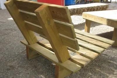 rustikale gartenbank selbst bauen holz material - boisholz, Garten und erstellen