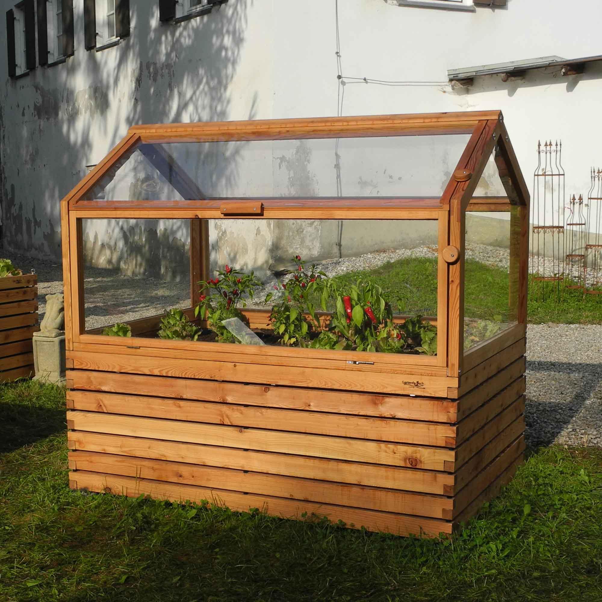 Hochbeet Dach Kaufen Hochbeete Aus Alu Fur Balkon Garten Im Holzlook