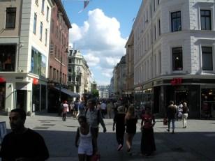 Blick in die Fußgängerzone von Oslo