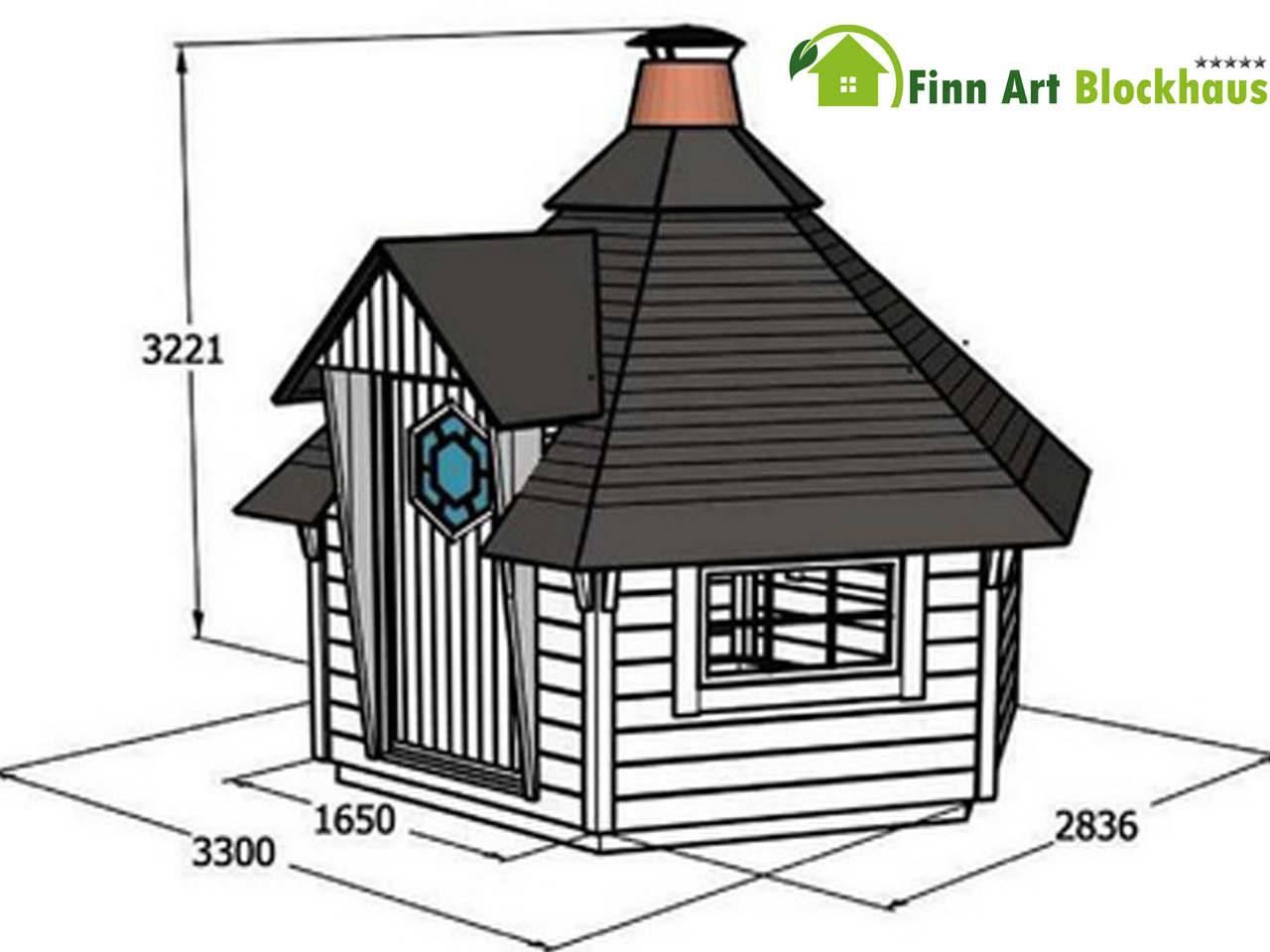 Finn Art Grillkota Finnland 7 M² Plus - Gartenhaus-King.De