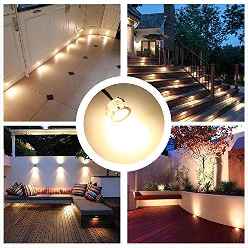 Terrassen Einbaustrahler LED Einbaulichter Set 10er Wasserdichte IP67 Warmwei 22mm Mini LED
