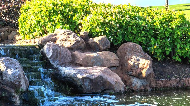 Der Wasserfall im Gartenteich  Gartenteich Hilfe
