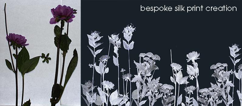 Giesha-luxury-flower-silk-print-creation