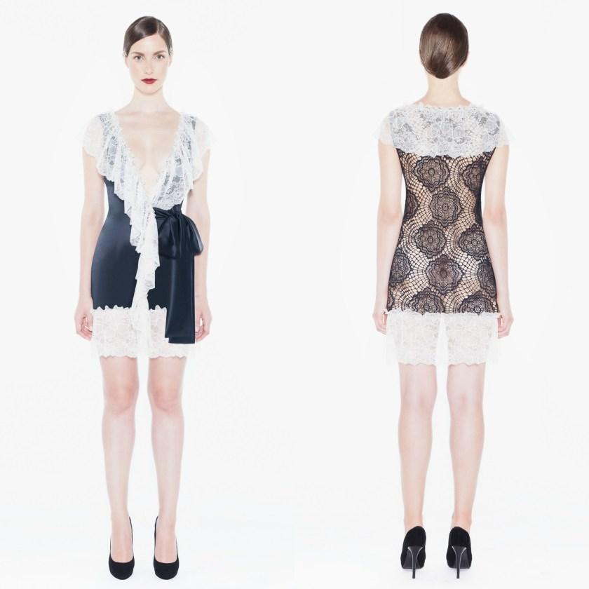lace mini robe