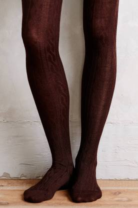 Coldstream Cabled Tights by Hansel from Basel, $38 (содержит шерсть)