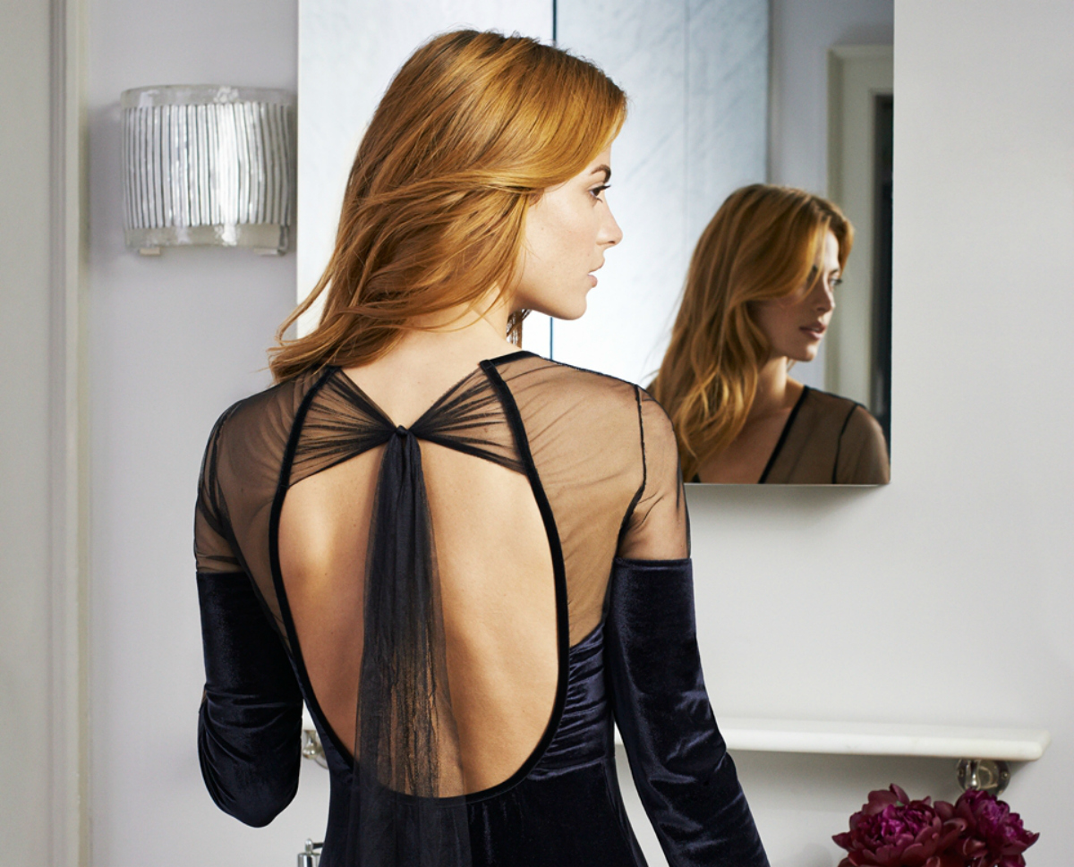 Estefania Long Robe Black, £700