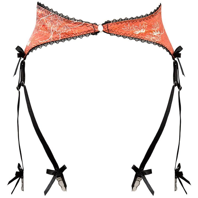 Sayuri 6-strap upcycled kimono silk suspender belt, £40 вместо £85