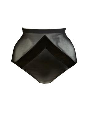 Ava High-Waisted Leather Briefs, £129