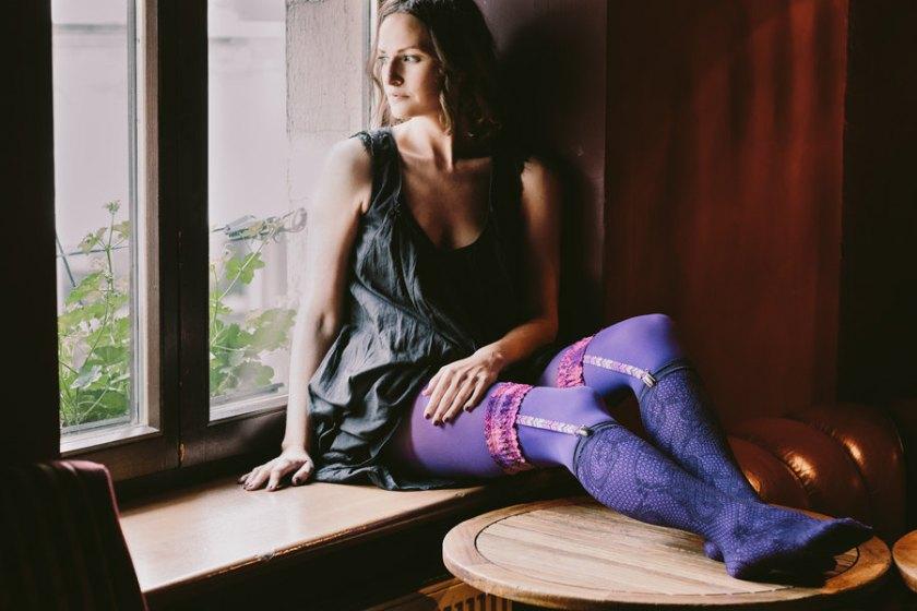 Baboshkaa Purple Leg Garter