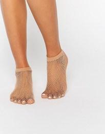 Сетчатые носки телесного цвета ASOS