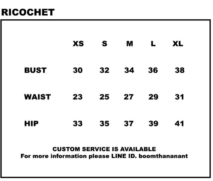 Размерный ряд бренда Ricochet