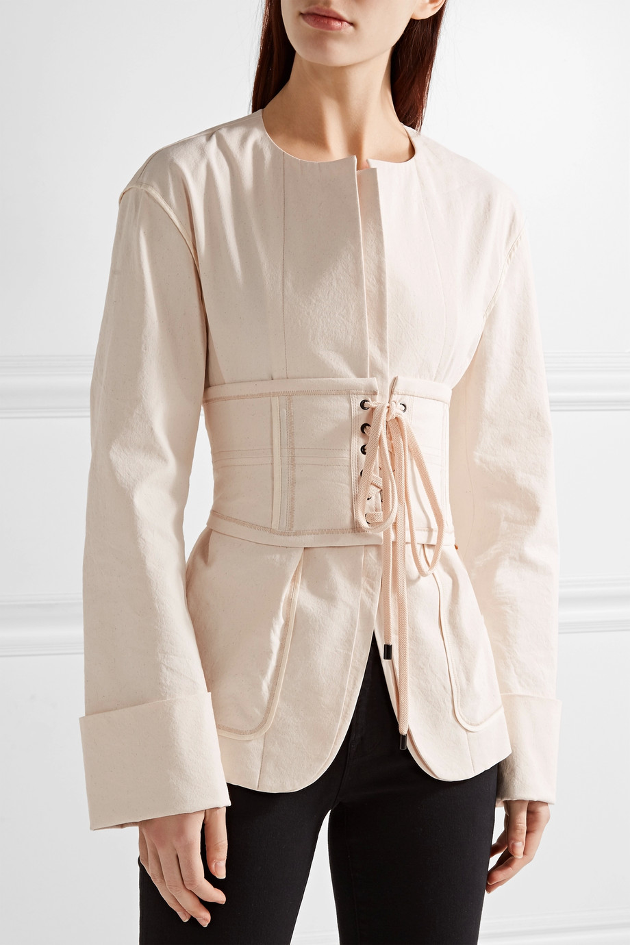 ISABEL MARANT Herese lace-up cotton-blend waist belt, £250