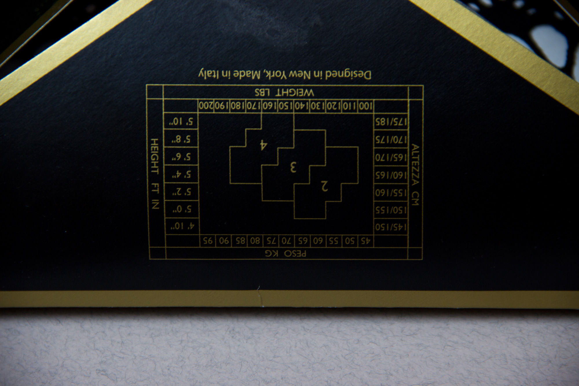 Обзор чулок Kai от английского бренда Erica M. в журнале о нижнем белье GB {Garterblog.ru}. Таблица размеров чулок на упаковке