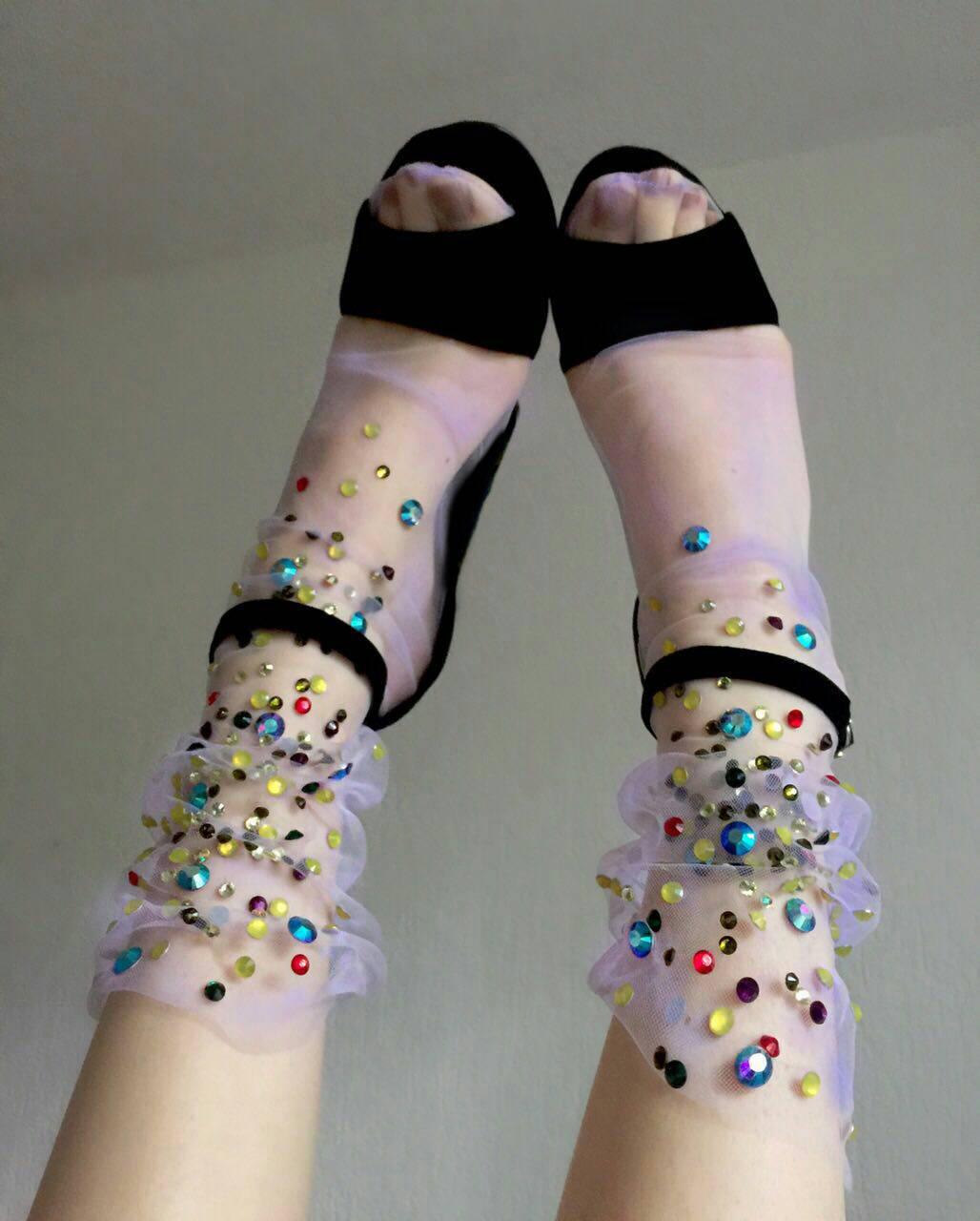 >Lirika Matoshi Field Flowers Tulle Socks $54.89