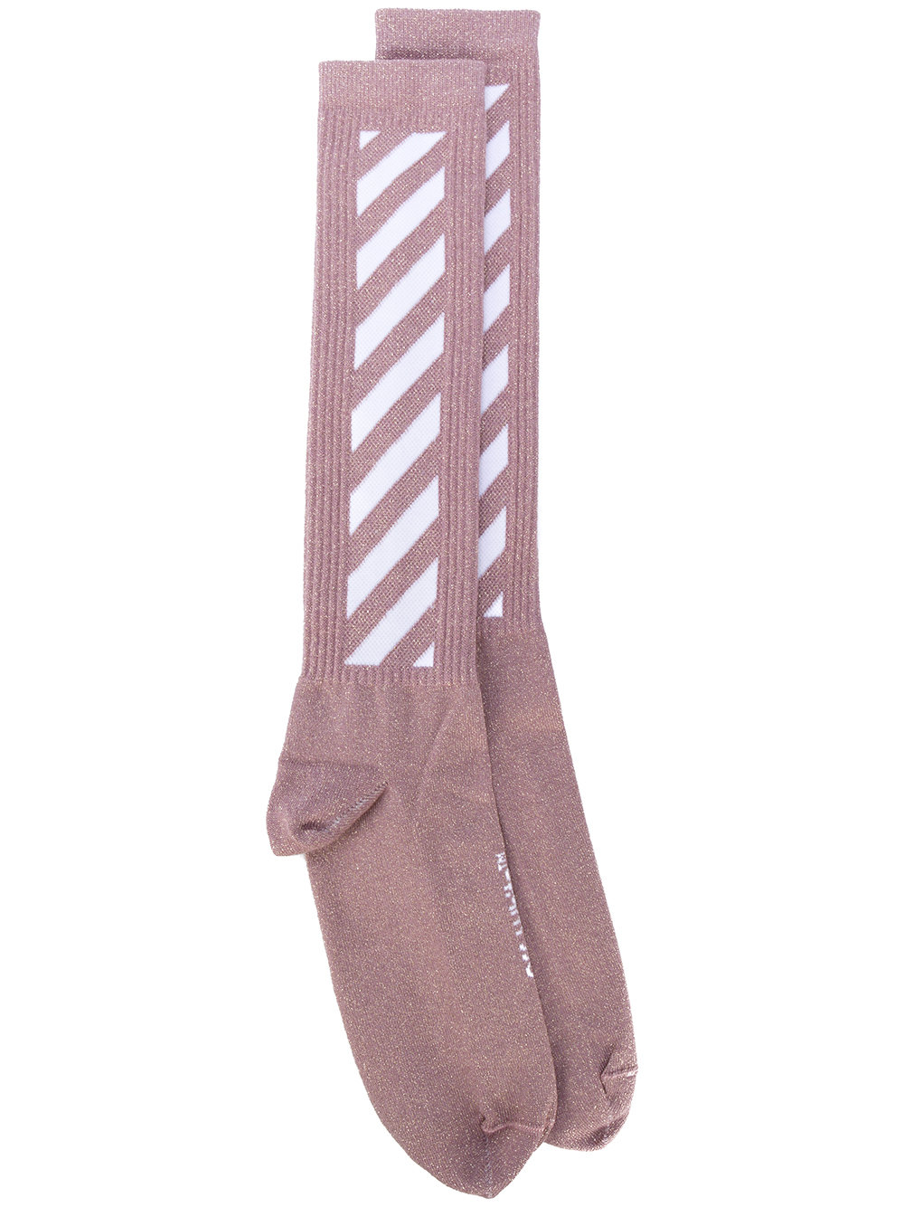 Мода. Носки. OFF-WHITE diagonal stripes socks, 4684₽