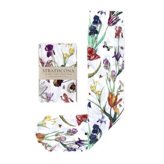 Носки с цветами. Strathcona Tulip Garden Unisex Trouser Stockings White $36.00