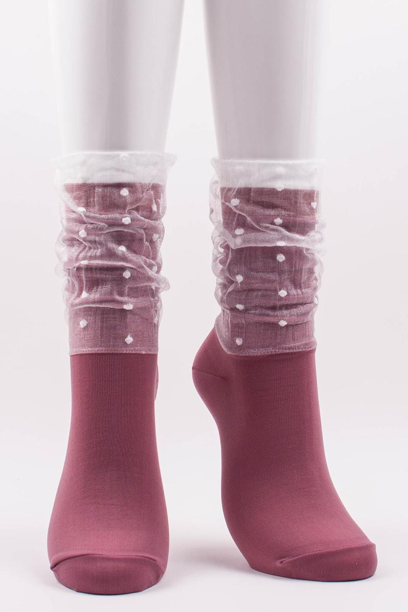 Мода на прозрачные носки. Купить Tabbisocks Dots in Veil Crew Socks, $18.00