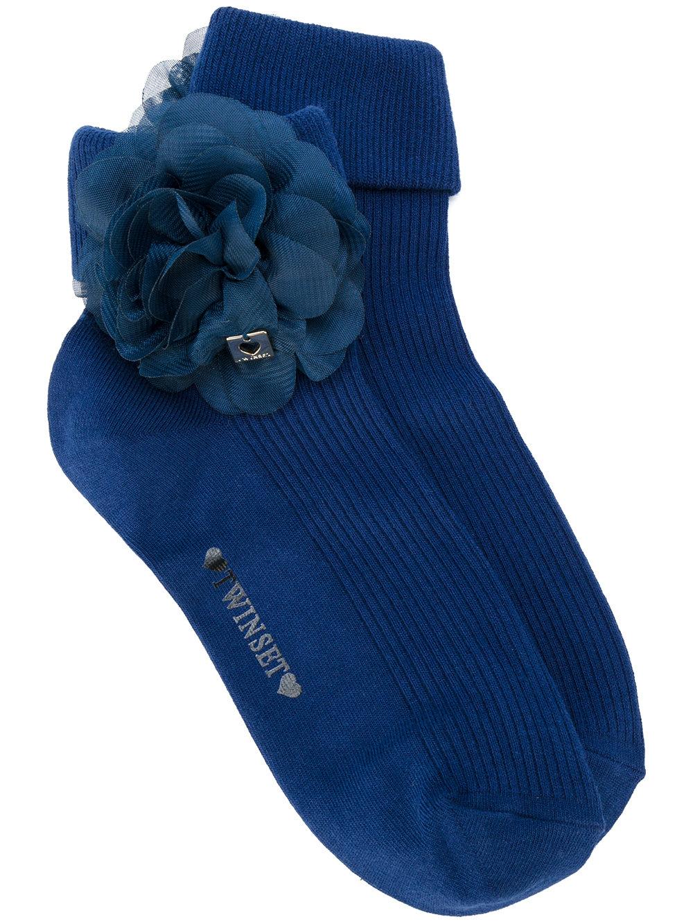 Мода. TWIN-SET носки с цветочной отделкой 2 771 ₽