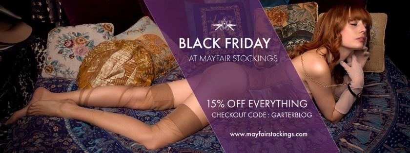 Черная пятница 2017, скидки на колготки, чулки, нижнее бельё в интернет-магазине Mayfair Stockings